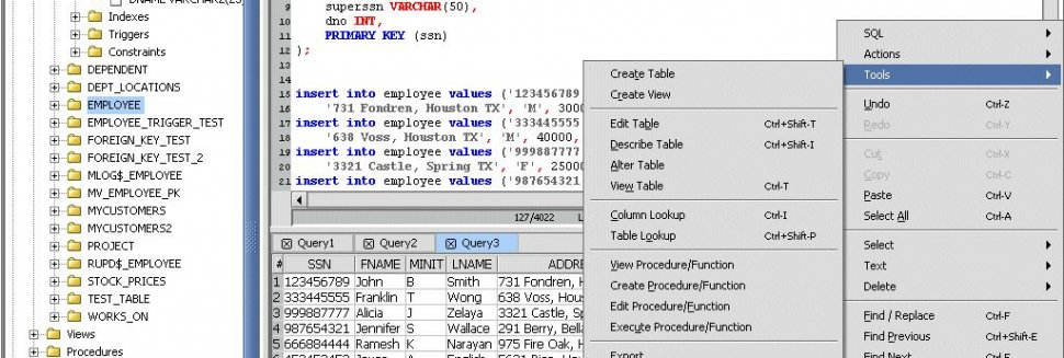 sql database query tool