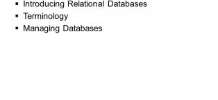 Managing Databases